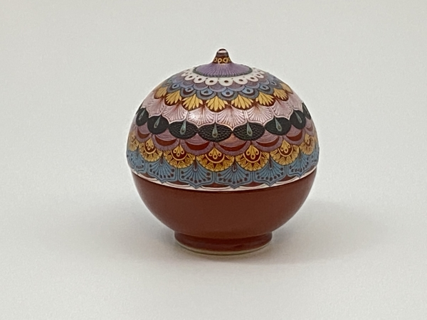 Lidded Cup with Floral Design